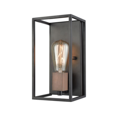 Rigby 1 Light Wall Sconce In Oil Rubbed Bronze And Tarnished Brass