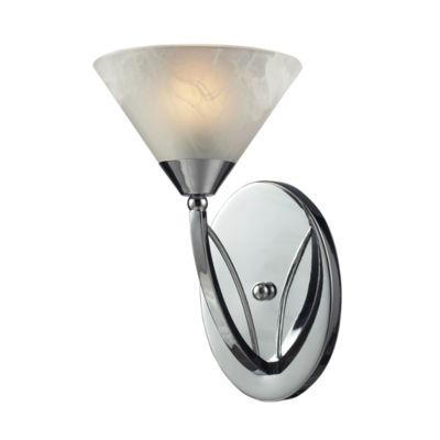 Elysburg 1 Light Vanity In Polished Chrome And White Glass