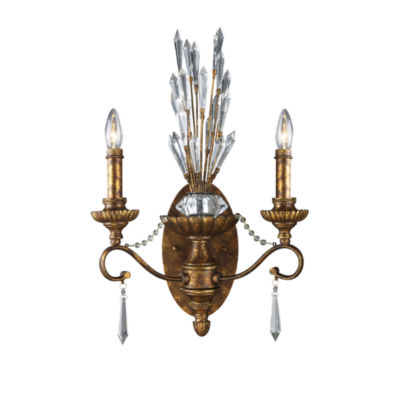 Senecal 2 Light Wall Sconce In Spanish Bronze
