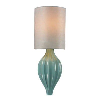 Lilliana 1 Light Sconce In Seafoam And Aged Silver