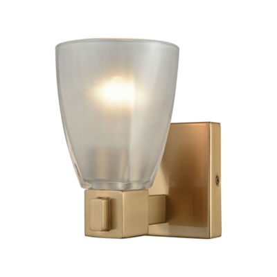 Ensley 1 Light Vanity In Satin Brass With Frosted Glass