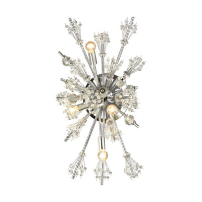 Starburst 4 Light Wall Sconce In Polished Chrome