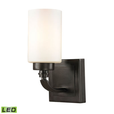 Dawson 1 Light LED Vanity with Opal White Glass