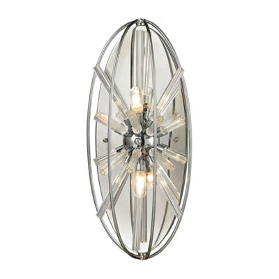 Twilight 2 Light Wall Sconce In Polished Chrome