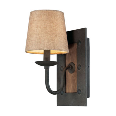 Early American 1 Light Wall Sconce In Vintage Rust