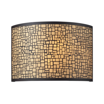 Medina 2 Light Vanity In Aged Bronze With Amber Diffuser