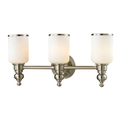 Bristol Way 3 Light Vanity with Opal White Glass