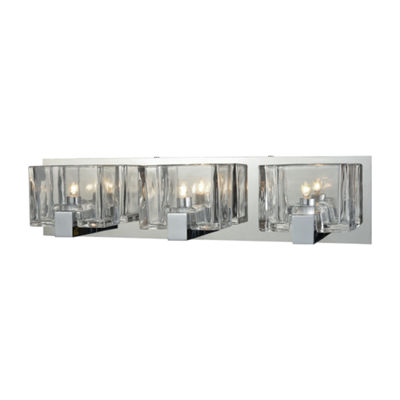 Ridgecrest 3 Light Vanity In Polished Chrome With Clear Cast Glass