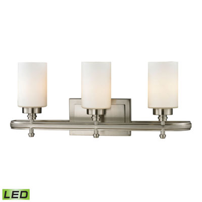 Dawson 3 Light LED Vanity with Opal White Glass