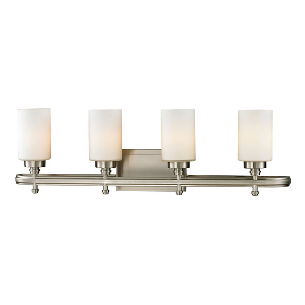 Dawson 4 Light Vanity with Opal White Glass