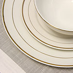 Gibson Home Palladine 16 Pc Dinnerware Double Gold Banded Set