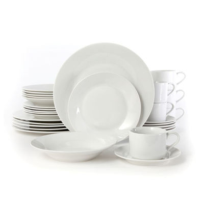 Rosendal 30 Pc Dinnerware Set - Service For 6 - Round - White - Fine Ceramic