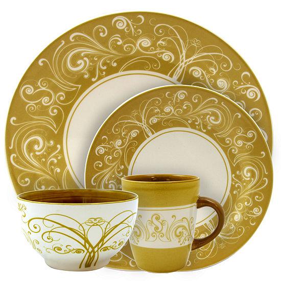 Elama Parisian Swirl 16 Piece Dinnerware Set
