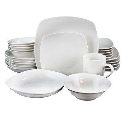 Hagen 30 Pc Dinnerware White Set