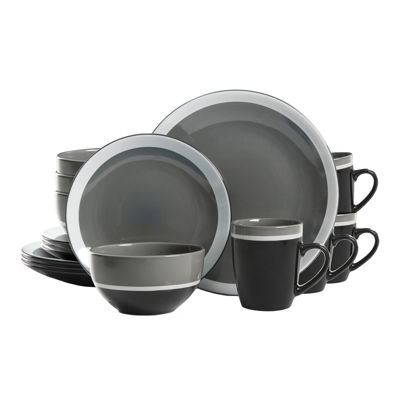 Gibson Color Eclipse 16 Piece Dinnerware Set