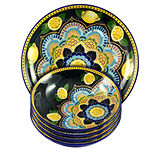 Elama Luna De Lemon 5 Piece Pasta Serving Bowl Set