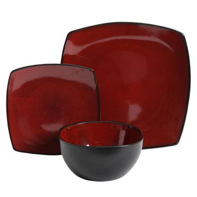Soho Lounge 12-Piece Soft Square Dinnerware Set