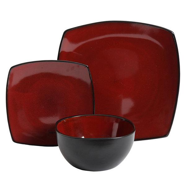 Soho Lounge 12-Piece Soft Square Dinnerware Set  sc 1 st  JCPenney & Soho Lounge 12-Piece Soft Square Dinnerware Set - JCPenney