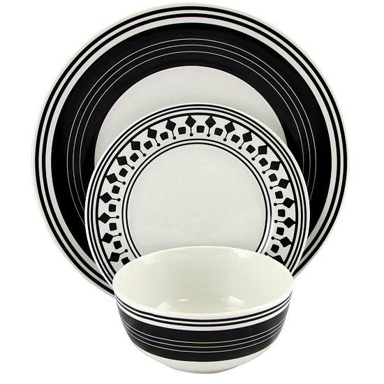 Gibson Home Classic Melody 12 Piece Dinnerware Set