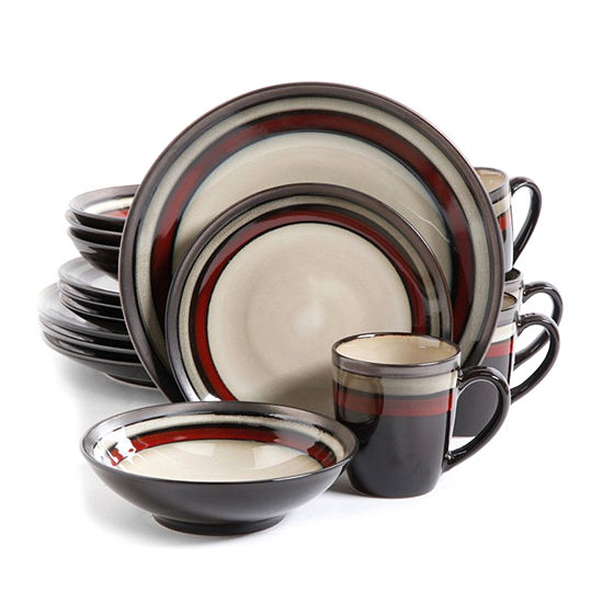 Gibson Lewisville 16pc Dinnerware Set Red