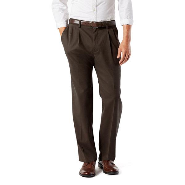 Men/'s Dockers Easy Khaki Pleated Comfort Waistband Classic Fit 64/% Cotton Pants