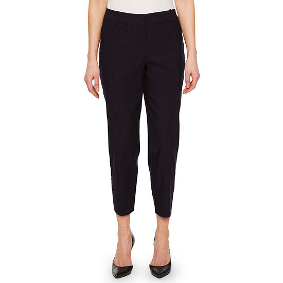 Worthington Womens Mid Rise Modern Fit Ankle Pant