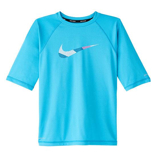 Nike Boys Logo Rash Guard - Big Kid