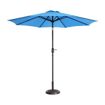 Villacera 9-Ft 8 Ribs Aluminum Pole And Autotilt Outdoor Patio Umbrella