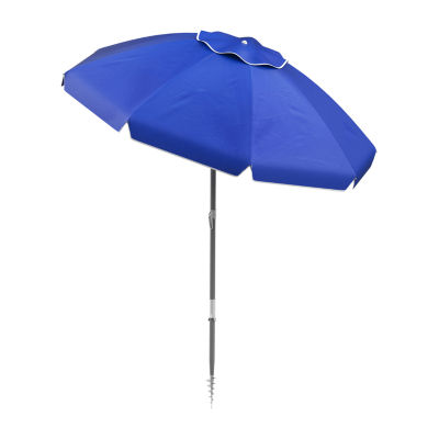Pure Garden 7-Ft Sand Anchor Beach Patio Umbrella