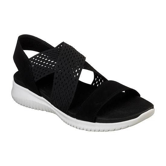 Skechers Womens Ultra Flex Strap Sandals