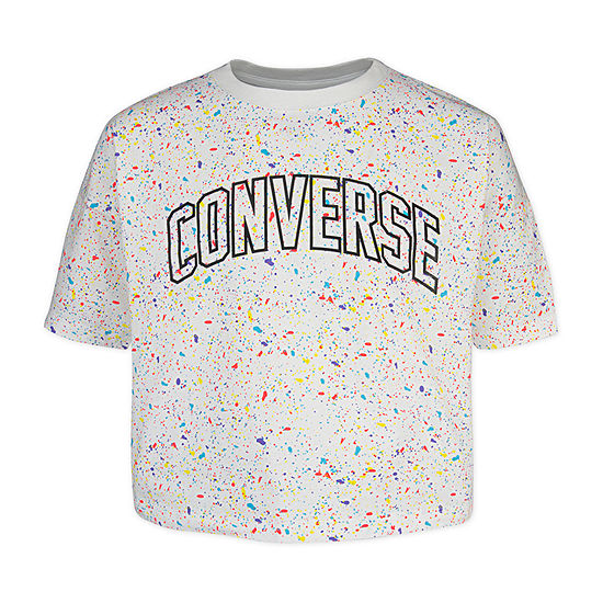 Converse Little Girls Crew Neck Short Sleeve Graphic T-Shirt
