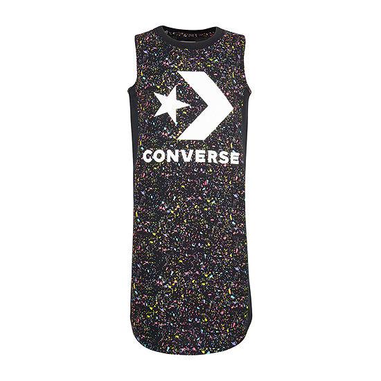 Converse Sleeveless Logo T-Shirt Dresses - Preschool Girls