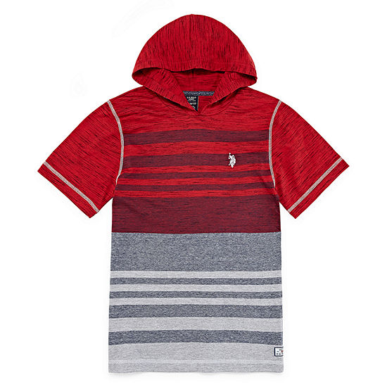 U.S. Polo Assn. Boys Embroidered Hoodie - Preschool / Big Kid Husky