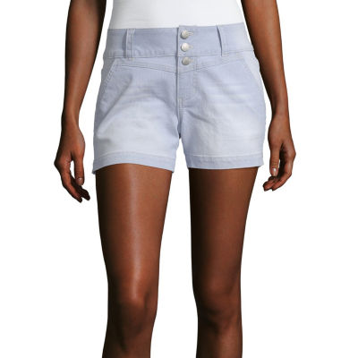 "Blue Spice Womens High Waisted 4"" Denim Short-Juniors"