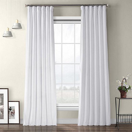 Exclusive Fabrics & Furnishing Heritage Plush Velvet Energy Saving Room Darkening Rod-Pocket/Back-Tab Curtain Panel