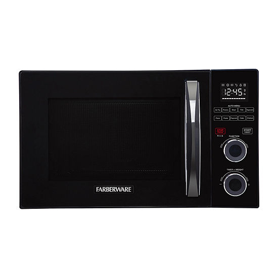 Farberware Gourmet FMO10AHSBKA 1.0 Cu. Ft  1500-Watt Microwave Oven with Healthy Air Fry and Grill/Convection Function