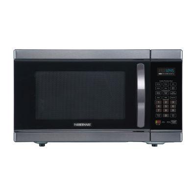 Farberware Black FMO11AHTBSJ 1.1 Cu. Ft 1100-Watt Microwave Oven with Smart Sensor and Inverter