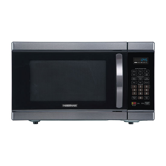 Farberware Black FMO11AHTBSJ 1.1 Cu. Ft 1100-Watt Microwave Oven with Smart Sensor and Inverter