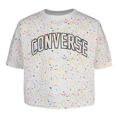 Converse Girls Crew Neck Short Sleeve Graphic T-Shirt Preschool / Big Kid
