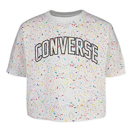 Converse Girls Crew Neck Short Sleeve Graphic T-Shirt Preschool / Big Kid