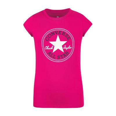 Converse Girls Crew Neck Short Sleeve Graphic T-Shirt