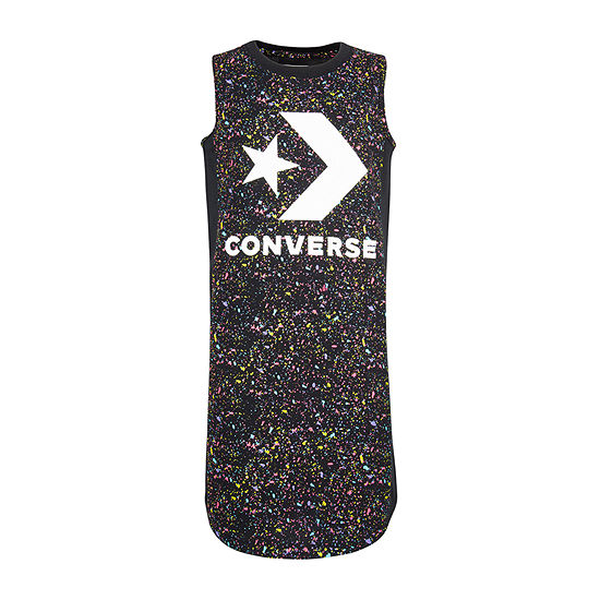 Converse Girls Sleeveless Logo T-Shirt Dresses - Big Kid