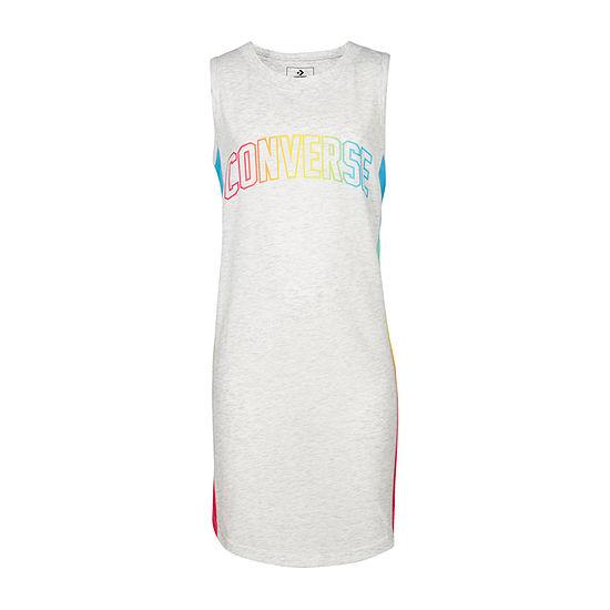 Converse Girls Sleeveless Logo T-Shirt Dresses - Big Kid