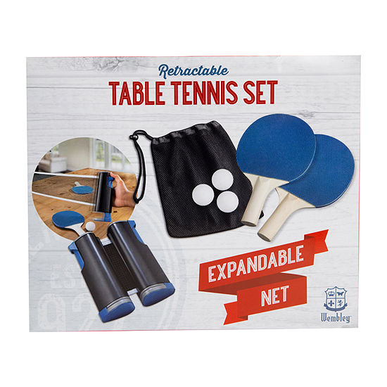 Wembley™ Retractable Table Tennis Set with Expandable Net