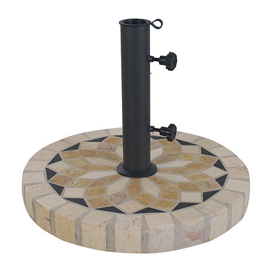 Outdoor Interiors Spanish Marble Patio Umbrella Base