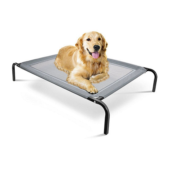 """Paws & Pals Portable Elevated Pet Bed - LARGE 43.5"""" x 29.5"""" x 8"""" Frame; 29"""" x 22"""" Mesh"""