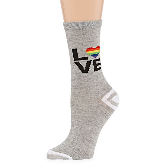 Mixit Pride Love 1 Pair Crew Socks - Womens