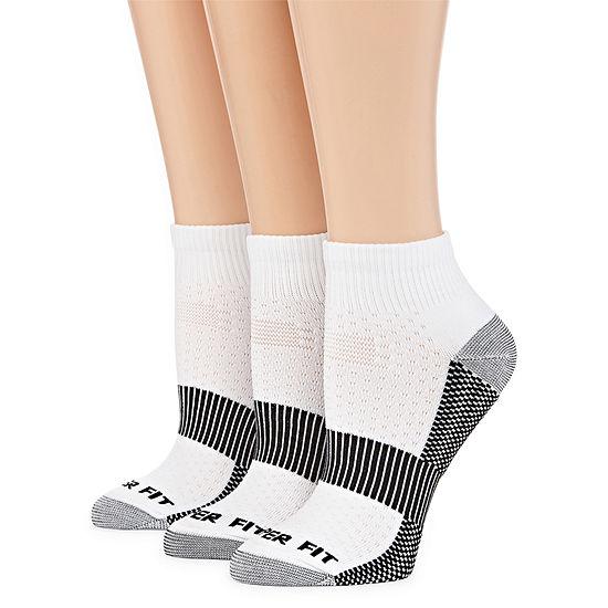 Copper Fit 3 Pair Quarter Socks - Womens