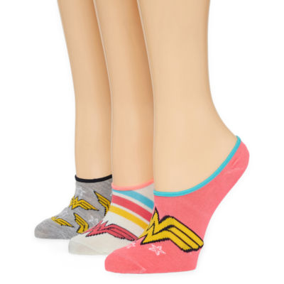 Wonder Woman 3 Pair Knit Liner Socks - Womens