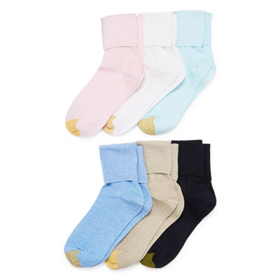 Gold Toe 6 Pair Turncuff Socks - Womens